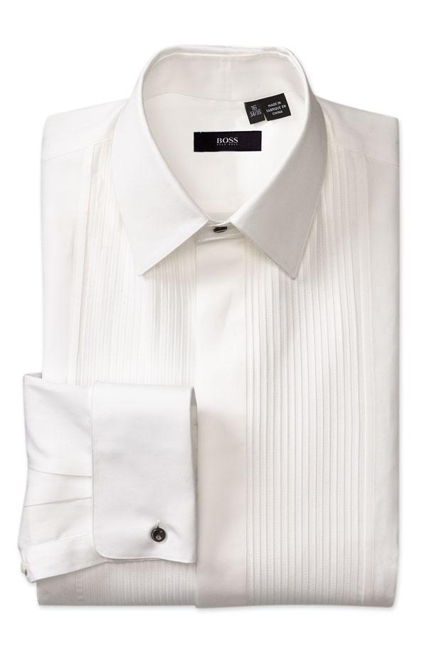 Hugo boss tuxedo shirt studs for Hugo boss formal shirts