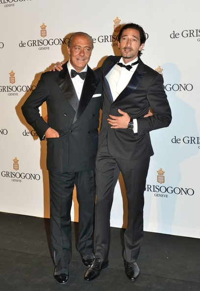 Fawaz Gruosi and Adrien Brody at the de Griogono party.