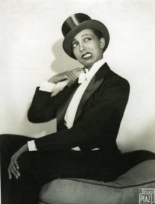 Josephine Baker hamming it up.