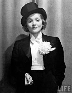Marlene Dietrich at a German press ball in 1928.