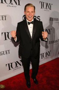 Tony nominee Billy Magnussen wearing a  very classic outfit right down to the proper waistcoat. (Getty Images)