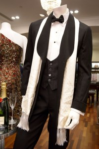 Costumes from the film on display at Brooks Brothers London and Fifth Avenue stores are conspicuously devoid of the incorrect evening waistcoat styles seen in the movie. (Rex Features | Vogue UK)