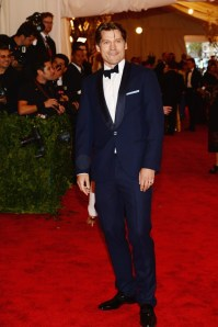 """Game of Thrones"" actor Nikolaj Coster Waldau in dark blue Brunello Cucinelli.  (Getty Images)"