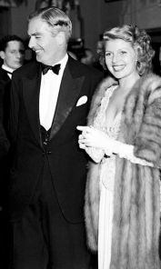 Future British Prime Minister Sir Anthony Eden  with Rita Hayworth in 1947.