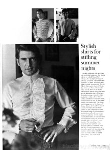 """Shirts of sheer cotton batiste by """"Samo of Rome""""."""