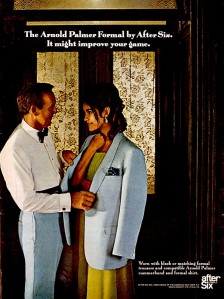 After Six's next celebrity tuxedo was named for famous pro golfer Arnold Palmer (circa 1970).