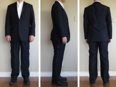 "For the record, I ordered the long lapel length (vs. medium), ""normal"" jacket fit (vs. tailored waist) and regular trouser fit (vs. slim)."