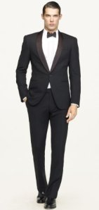 "Black Label ""Anthony"" tuxedo by Ralph Lauren."