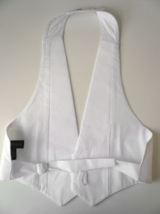 Reverse side of full-dress waistcoat.  (Courtesy of Michael Kandalaft)