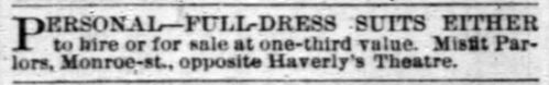Chicago Daily Tribune, February 1884.