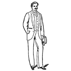 "Vogel Brothers ad for ""men's dress sack suit"", 1886"