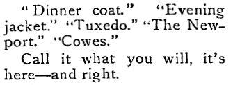 Rogers, Peet & Company ad, 1902
