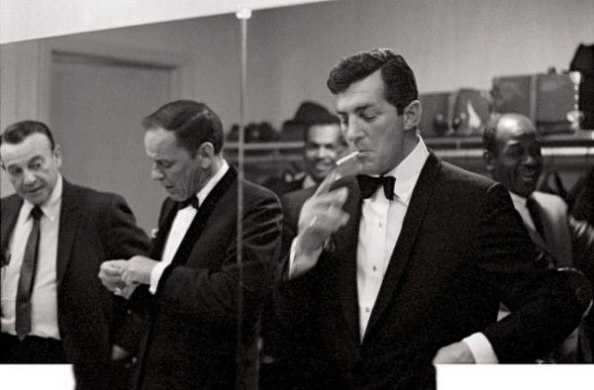 Now this is how you do Sixties black tie.  Notice that Mr. Sinatra and Mr. Martin both took the effort to shave.
