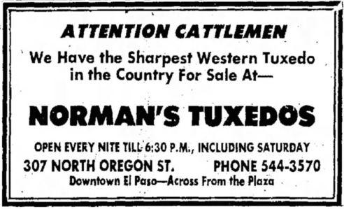 1973 El Paso newspaper ad