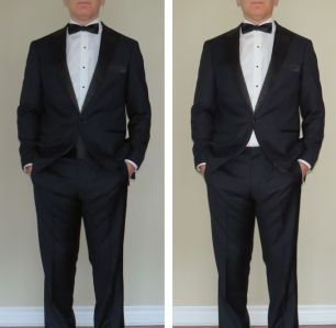 a cummerbund is a necessity with low-rise trousers if you're going to avoid the formal equivalent of plumber's crack.