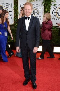 Modern Family's Jesse Tyler Ferguson in Giorgio Armani.  Note the velvet bow tie. ( Jordan Strauss/Invision/AP)