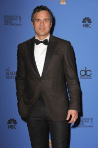 Mark Ruffalo dares to wear brown in town - and pulls it off.  (Getty Images)