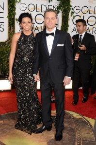 Matt Damon in Calvin Klein. ( Jason Merritt/Getty Images)