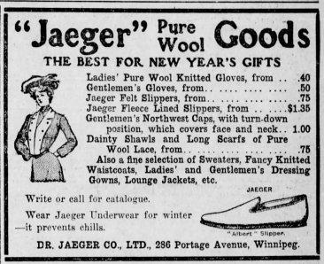 1906 Winnipeg, Canada haberdasher ad.