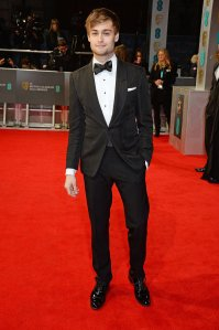 Romeo and Juliet star Douglas Booth in Tom Ford.  (David M. Benett/Getty Images)