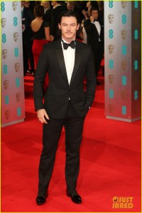 Welsh actor Luke Evans with cloth-top shoes wearing Dior Homme. (Chris Jackson / Getty Images)