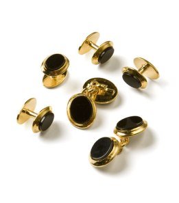 Gold and onyx formal jewelry set.  $298.