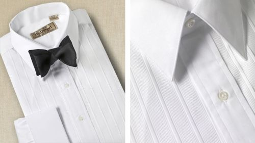 """Straight collar formal shirt."" $228."