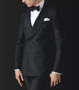 Wool/mohair double-breasted dinner jacket with shawl collar and side vents. $1,487.  Not listed on the site are matching trousers available for $497 (call and ask for item no. 8683517).