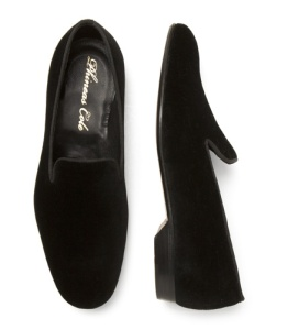 Velvet evening pump with leather sole.  Made in Italy.  $395.
