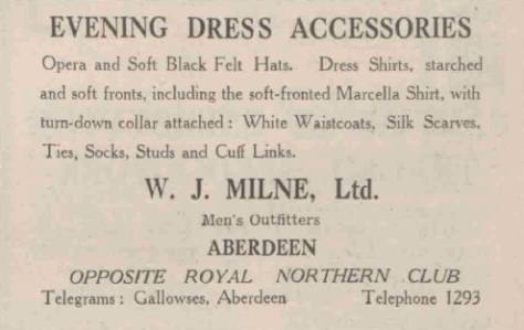 1936 ad in Scottish newspaper.