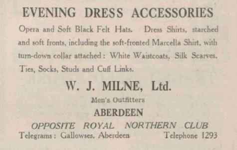 1936 ad in Scottish newspaper.