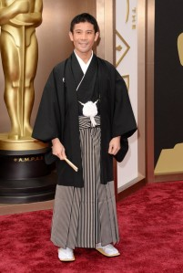 Filmmaker Shuhei Morita in traditional Japanese formal attire.  (Jason Merritt / Getty Images)