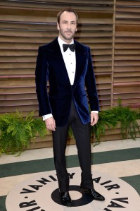 Tom Ford in a more low-key take on blue.  Maybe not kosher for the red carpet but perfectly suitable for the after party. (Pascal Le Segretain / Getty Images)
