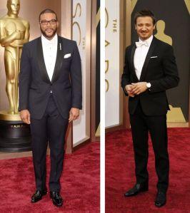 Tyler Perry in Martin Katz (Jason Merritt / Getty Images) Jeremey Renner Riccardo Tisci tuxedo (ABC / Rick Rowell)