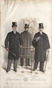 December 1892.  Outdoor illustrations always included walking sticks. 1890-1895, Plate 026
