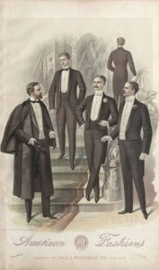 November 1896. First dinner jacket shown in formal setting. 1896-1899, Plate 037