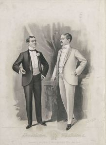 July 1899.  This is the first plate to feature a white dinner suit. 1896-1899, Plate 002  1894-1899, Plate 023