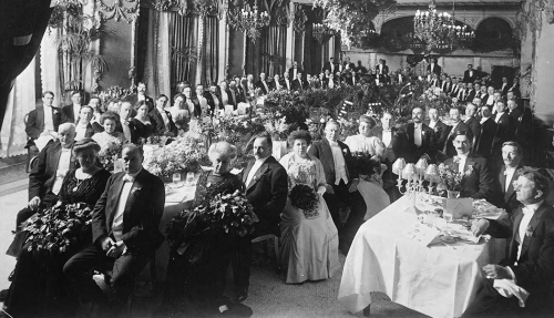1907 formal dinner at King Edward Hotel, Toronto.  (City of Toronto Archives, Fonds 1568, f1568_it0478)