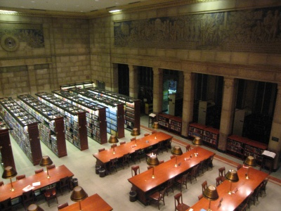 The Science and Business Reading Room in the John Adams Building.  (Library of Congress)