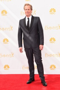 Compare actor Jeff Daniels' grey dinner suit to William H. Macy's version and you'll see an unorthodox variation can only succeed when all other details are traditional.  (Frazer Harrison/Getty Images )