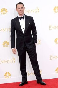 Actor Colin Hanks.  Only the oversized floppy tie keeps Mr. Hanks out of the exceptional category, and even that could be argued to be in perfect proportion to the lapels.  (Kevork Djansezian/NBC/NBC via Getty Images)