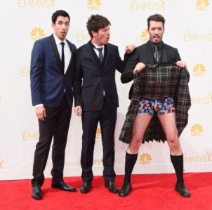 TV personalities Drew Scott, Jonathan Silver Scott, J.D. Scott competing for honour of biggest douchebag. (Frazer Harrison/Getty Images)