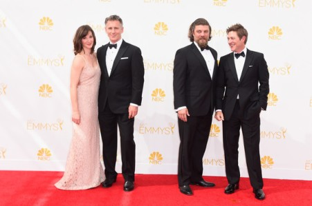 (L-R) Mad Men actors Christopher Stanley, Jay R. Ferguson and Kevin Rahm.  If it wasn't for the shirt waists . . . (Frazer Harrison/Getty Images North America)