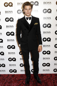British model Oliver Cheshire.  If not for the redundant and unflattering suit vest beneath, his exquisite Dolce & Gabbana dinner suit would put him in the Exceptional category. (Rex Features)