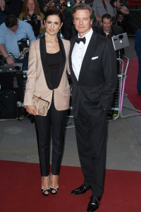 Colin Firth's tuxedo appears to be a Tom Ford creation that the actor has sported in the past. (Rex Features)