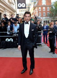 No wonder British model David Gandy always tops the list: he's wearing Henry Poole & Co. (Anthony Harvey/Getty Images Europe)