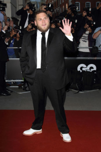 Actor Jonah Hill continues his tradition of juvenile disregard for black-tie's timeless fundamentals, once again coming across as an overage prom date. (WENN)