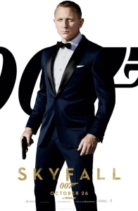 Tom Ford's dark navy dinner suit for 2012's Skyfall.