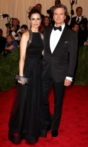 Colin Firth in a natty evening jacket at the 2013 Met Gala.