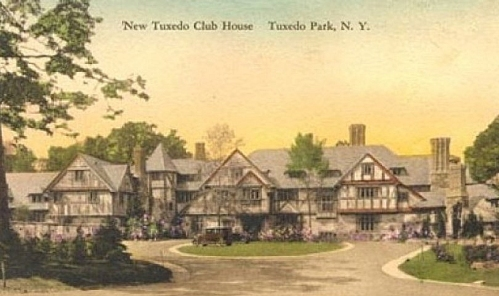 The original Tuxedo clubhouse designed by Bruce Price in 1886 was replaced by this second clubhouse in 1928, which was designed by John Russell Pope. The building was destroyed by fire in 1943 and was partially rebuilt soon thereafter.